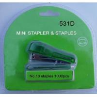 HS531D,Mini Stapler set #10staples, translucent plastic