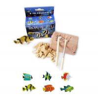 Sml. Plastic Tropical Fish Excavation Kit/Dig it Out Toys