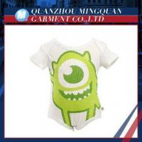 top selling cartoon organic cotton baby clothing china