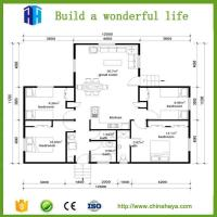 Quality EPS sandwich wall panel light steel frame double stotey movable house for sale