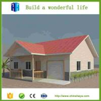 Quality 2017 popular light steel frame prefabricated 2 storey villa for sale