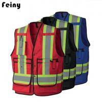 Quality Poly Cotton Fire Flame Safety Reflective Vests for sale