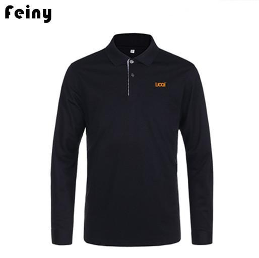 Buy Custom Long Sleeve Polo T Shirt Mens at wholesale prices