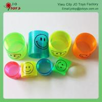 Colorful Transparent Plastic Spring Smiley Slinky Capsule Toy