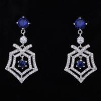 Quality Latest Simple Style New Fashion Women White Gold Plated Cz Stone Girls Stylish Earrings for sale