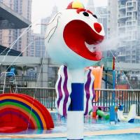 Water recreation facilities Big head clown water spray