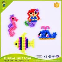 Newest product diy educational toys round hama perler plastic water beads 5mm