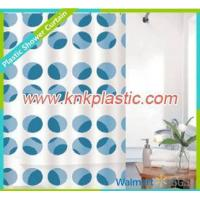 Quality Fabric Shower Curtain Blue Dots Design Shower Curtain Fabric, Colorful Bathroom Curtain for sale
