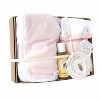 China Burt's Bees Baby Squeaky Clean 5 Piece Bath Gift Set, Blossom on sale