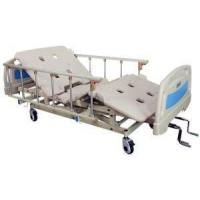 China 3 Cranks Fowler Bed Vertical Lift Manual Hospital Bed with Aluminum on Casters with Brake wholesale