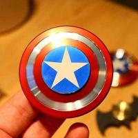 Hand Fidget Toy Captain America Shield Hand Spinner Metal Finger Stress reduce H