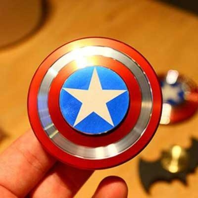 Buy Hand Fidget Toy Captain America Shield Hand Spinner Metal Finger Stress reduce H at wholesale prices