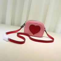 Quality Gucci Childrens Leather Heart Messenger Bag 457223 Pink for sale