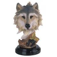 Quality WOLF Wolf Head Collectible Wildlife Animal Figurine Statue for sale