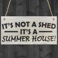 China WOODEN PLAQUE - 200x100 - Its Not A Shed its a Summer House on sale