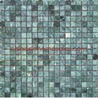 Quality Natural Indian Green Marble Mosaic Tile with Uniform Color for sale