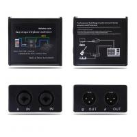 Quality Noise Isolator Professional Full Rage Audio Ground Loop Signal Protector With 3.5-6.35mm Audio Cable for sale