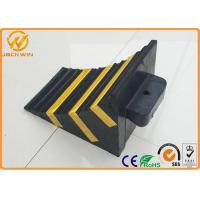 Quality Recycled Rubber Truck Vehicle Wheel Stops Chock for Parking Lock / Hotel / Garage for sale