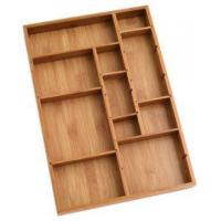 Durable Bamboo Tray Drawer Organizer For Utensils Cutlery