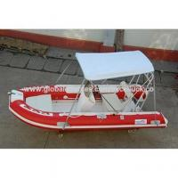 China Fiberglass Hull Boat Rigid Inflatable Boat With CE on sale