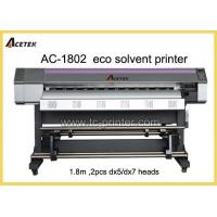 Quality ECO Solvent Printer AC-1802 6 Feet Dual DX7 Print Head Small Format ECO Solvent Printer for sale