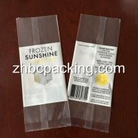 Quality Back Side Seal Clear Transparent Freeze Ice Popsicle Packaging Bag Popsicle Wrappers for sale