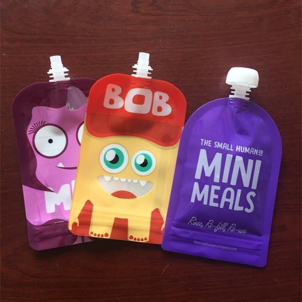 Buy Ziplock Reusable Stand Up Baby Food Spout Pouch Bags Refillable Squeeze Pouches at wholesale prices