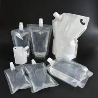 Quality Liquid Packaging Juice Beverage Plastic Clear Stand Up Spout Pouch for sale