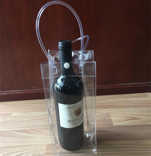 China Custom Collapsible Wine Bottle Ice Cooler Bags With Handle