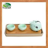 China Chinese Traditional Portable Tavel Ceramic Kung Fu Tea Set with Bamboo Tray on sale