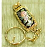 China Key chain Cloisonne rectangle nail clipper & key chain on sale