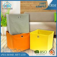 Quality Colored Cardboard Cube Storage Basket Bins for Organizing for sale