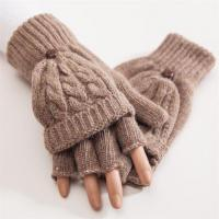Quality Warm Fashion Low Price Knitted Women Woolen Fingerless Gloves for sale