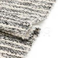 Quality HR83744Acrylic-polyester-cotton blended multi stripe sweatshirt knit fabric for sale