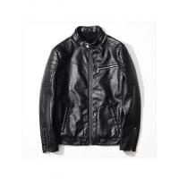 Quality JACKET Customized Men PU Leather Bomber Jacket in Black for sale