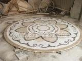 Quality Stone Tiles & Slabs Polishing Round Stone Waterjet Medallions In Your Own Designs for sale