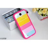 Soft Silicone Protective Cover Case For Samsung Galaxy S4 i9500 Colorful Strips Case Rainbrow Case