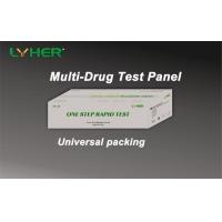 Buy cheap Multi-drug One Step 5 6 10 12 Drug Screen Test Panel Rapid Test Diagnostic Kit Accurate CE Mark from wholesalers