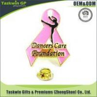 Quality New arrival design scarf metal lapel pin/promotional badge for dancer care foundation for sale