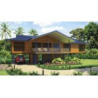 China Bali Prefabricated Wooden Houses / ETC Home Beach Bungalows For Holiday Living on sale