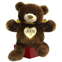 "Quality Bear Plush #1597 Hugsie (brown) 15"" sitting for sale"