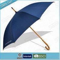Buy cheap Low Price Auto Open Pongee Fabric Straight Umbrella with Wooden Handle Made In China from wholesalers