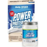 China Body AttackMuscle growth Duo - Creatine plus Power Protein 90 on sale