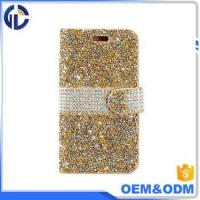 Quality 2017 china phone diamond cover case manufacturer leather cell phone case for iphone 7 6 for sale