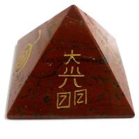 Quality Ornaments Red jasper pyramid for sale