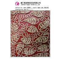 Quality Leaves Chemical Lace Embroidery Fabric / Design Embroidery Chiffon Fabric 120cm(S8008) for sale