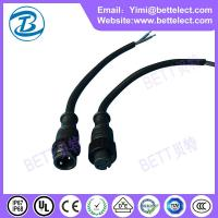 Quality M16 waterproof male female black PVC2 core plugs for sale