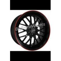 Buy cheap Custom Rims KYOWA WHEELS EVOLVE KR628 - 17 INCH 17X7.0 BLACK RIMS with RED RACING STRIPE-Rims from wholesalers
