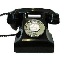 Quality Culture 1950s 300-series Black Bakelite Telephone for sale