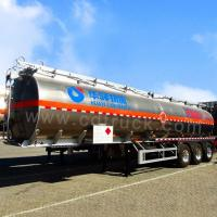 Quality 3 Axles and 4 Axles 60000 Liters Aluminum Oil Fuel Tanker Tank Semi Trailer for sale